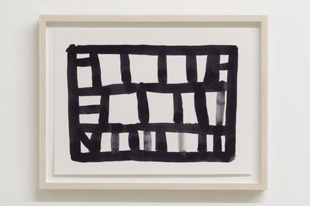 Stanley Whitney, <em>Untitled</em>, 2014. Black gouache on Fabriano paper, 11 &times; 15 inches. Courtesy the artist and Team Gallery, inc., New York.