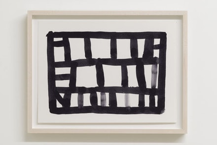 Stanley Whitney, <em>Untitled</em>, 2014. Black gouache on Fabriano paper, 11 × 15 inches. Courtesy the artist and Team Gallery, inc., New York.