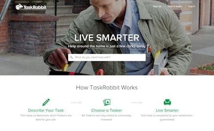 TaskRabbit homepage.