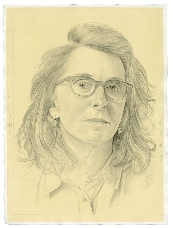 Portrait of the artist. Pencil on paper by Phong Bui. Photo: Taylor Dafoe.