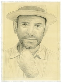 Portrait of Alexander Nagel. Pencil on paper by Phong Bui.