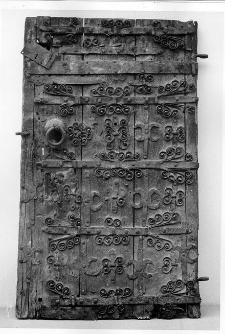 Door, Europe, 14th century. Wood, iron. 69 × 40 × 5 7/8 in. Courtesy the Metropolitan Museum of Art, the Cloisters Collection, 1955.