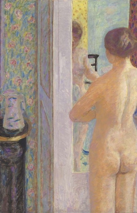 Pierre Bonnard, <em>La Toilette</em>, also called La Toilette rose, 1914 (retouched in 1921). Oil on canvas, 119.5 × 79 cm. © RMN-Grand Palais (Musée d'Orsay) / Hervé Lewandowski. © ADAGP, Paris 2015.