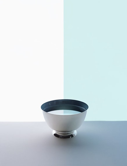 Sarah Charlesworth, <em>Half Bowl</em>, from the &#147;Available Light&#148; series, 2012. Crystal Archive print, mounted and laminated with lacquer frame, 41 &times; 32 in. Courtesy the Estate of Sarah Charlesworth and Maccarone Gallery, New York.