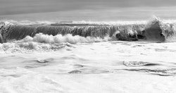 Clifford Ross, Hurricane LII, 2009. Archival pigment print, 73 × 129 in. Courtesy the artist. © Clifford Ross Studio.