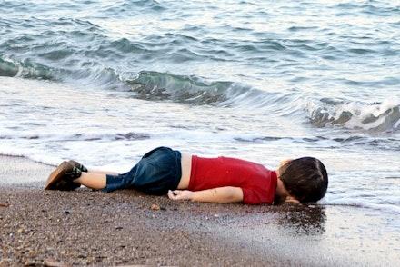 Aylan Kurdi. Photo: Nilüfer Demir/DHA