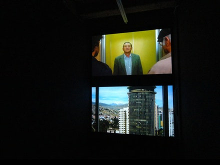Claudia Joskowicz, <em>Sympathy for the Devil</em>, 2011. Two channel digital HD video; 8 minutes total running time; color; sound. Courtesy of the artist and LMAK Gallery, New York.