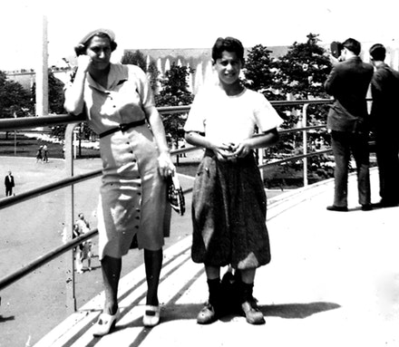 Self portrait with my mother at the 1938 Worlds Fair.