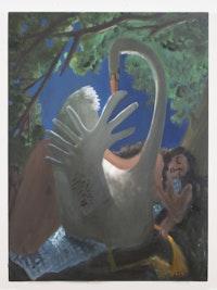 Kyle Staver, <em>Leda</em>, 2015. Oil on canvas, 42 × 36 inches. Courtesy the artist.