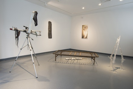 Installation view: Roberto Visani, <em>In Medias Res</em>, Guttenberg Arts Gallery, Guttenberg, New Jersey, Sept. 7 – October 4, 2015.