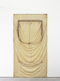 Robert Overby, <em>Loft Window, 5 June 1971</em>, 1971. Latex rubber, 113 × 60 inches. Courtesy the Estate of Robert Overby and Andrew Kreps Gallery, New York.