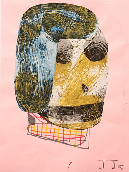 Josh Jefferson, Self Portrait, 2015. Collage on paper, 9 x 12 in. Courtesy Turn Gallery.