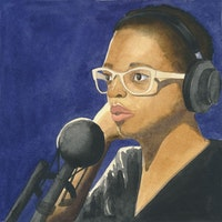 Cécile McLorin Salvant. Illustration by Megan Piontkowski.