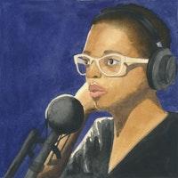 Cécile McLorin Salvant. Illustration by Megan Piontkowski.