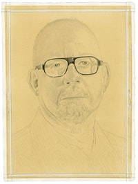 Portrait of Frank Owen. Pencil on paper by Phong Bui. From a photo by Jake Warner.