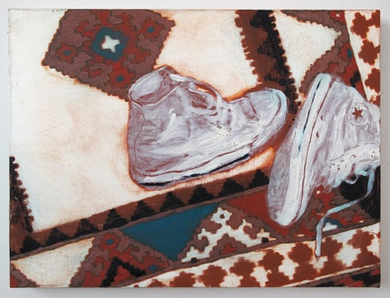 Doron Langberg, <em>Shoes</em>, 2015. Oil on linen. 18 × 24 inches. Courtesy the artist.