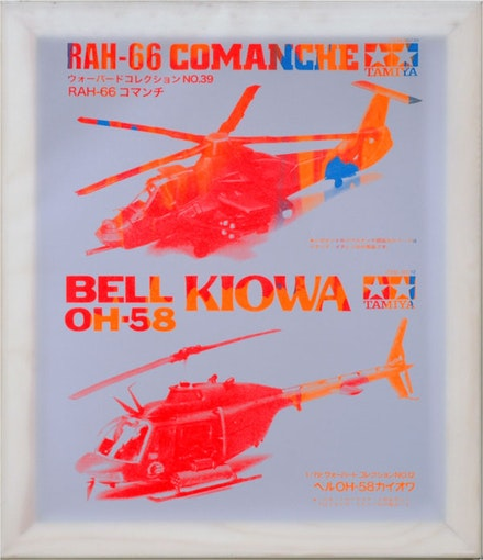 Jason Lujan (Chiricahua Apache), <i>Comanche Kiowa</i>, 2014. Serigraph on mylar over stretcher, 29 x 19 inches. Edition: 4 variable. Printed and published by the artist.