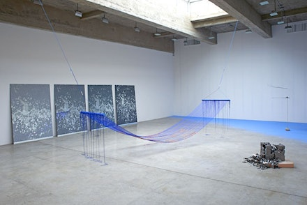 Installation view: <i>Sarah Sze</i>, Tanya Bonakdar Gallery, Sep. 10 – Oct. 17, 2015. Courtesy of the artist and Tanya Bonakdar Gallery, New York. Photo: Brett Moen.