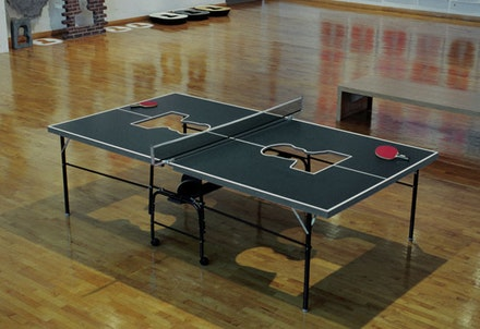 Zhang Hongtu, <i>Ping Pong Mao</i>, 2015. Mixed media installation, 30 x 60 x 108 inches. Courtesy the Queens Museum.