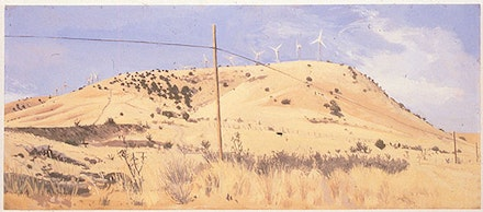 1997, True Progress, Fort Davis, TX, Oil on Canvas, 13 in. x 31.5 in