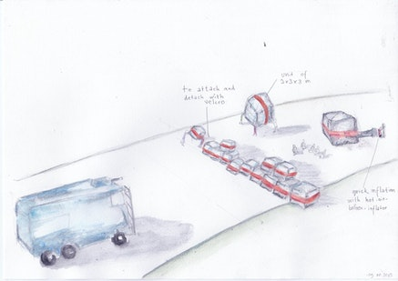 Climate Games, preparatory sketch of Tools for Action deployment at COP21 Summit, Paris, December 2015 (image courtesy of Climate Games)