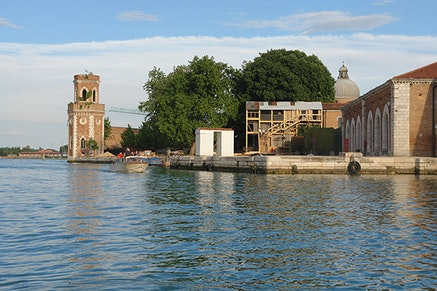 Gio Sumbadze, Kamikaze Loggia, 2013. 55th International Art Exhibition – la Biennale di Venezia, Arsenale, Venice. Photo: Gio Sumbadze.