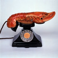 "Salvador Dalí, ""Lobster Telephone"" (1936), multi-media. Trustees of the Edward James Foundation."