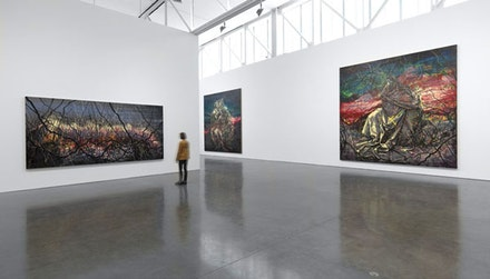 Installation view: <em>Zeng Fanzhi: Paintings, Drawings, and Two Sculptures</em>. November 6 – December 23, 2015. Gagosian Gallery, New York. Artwork © Zeng Fanzhi Studio. Photography by Rob McKeever. Courtesy Gagosian Gallery.