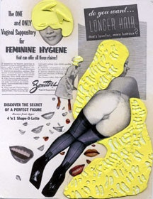 "Ellen Gallagher, ""Feminine Hygiene,"" detail from portfolio edition DeLuxe, (2005). Courtesy Two Palms Press."