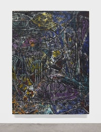 Angel Otero, <em>Wind Chimes</em>, 2015. Oil paint and fabric collaged on canvas, 96 × 72 × 2  inches. Courtesy the artist and Lehmann Maupin, New York and Hong Kong. Photo: Martin Parsekian.