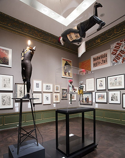 "Installation view: ""Birth of the Republic"" gallery in <em>Berlin Metropolis: 1918 – 1933</em>, Neue Gallerie, October 1, 2015 – January 4, 2016. Photo: Hulya Koabas."