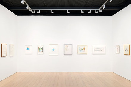 "Installation view: ""David Hockney, Early Drawings,"" Paul Kasmin Gallery, Nov. 2 – Dec. 1, 2015. Courtesy Paul Kasmin."