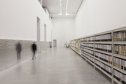 Installation view: Arno Brandlhuber, Florian Hertweck, Thomas Mayfried, <em>The Dialogic City : Berlin wird Berlin</em>, 2015. © The Dialogic City. Courtesy Berlinische Galerie.