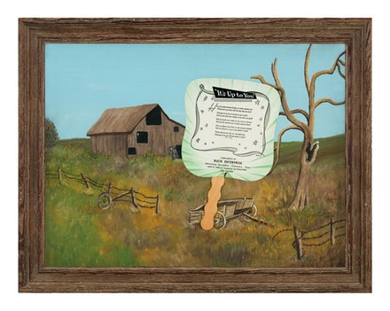Alexis Smith, <em>It's Up to You, 2008</em>. Mixed media, 21 1/2 x 27 1/2 x 1 3/4 inches. Courtesy the artist and Garth Greenan Gallery, New York.