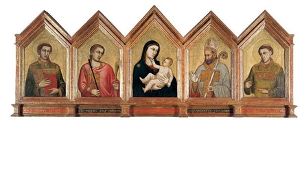 Santa Reparata Polyptych (Back), 1310 ca. Tempera and gold on wood. Cathedral of Santa Maria del Fiori.