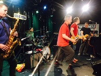 Ken Vandermark and the Ex at Monty Hall. Photo by Brian Turner.
