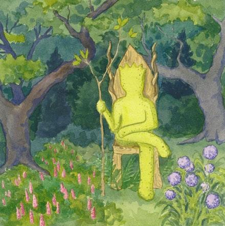Slime Mold, King of  <em>The Creeping Garden</em>. Illustration by Megan Piontkowski.