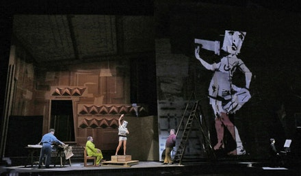 A scene from Berg's <em>Lulu</em>. Photo by Ken Howard/Metropolitan Opera.
