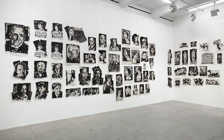 William Kentridge, Installation view <em>Drawings for Lulu</em>, Marian Goodman Gallery, New York, November 2 – December 19, 2015. Courtesy the artist and Marian Goodman Gallery. Photo: Cathy Carver.