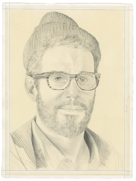 Portrait of José Parlá by Phong Bui. Pencil on paper. From a photo by Taylor Dafoe.