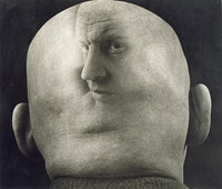 Georgy Petrusov, Caricature of Alexander Rodchenko, 1933–34, gelatin silver print. Collection of Alex Lachmann. Artwork © Georgy Petrusov, courtesy of Alex Lachmann Collection