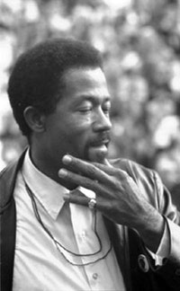 Images from Eyes on the Prize. Eldridge Cleaver, Minister of Information for the Black Panther Party and presidential candidate for the Peace and Freedom Party speaking at the Woods-Brown Outdoor Theatre, American University. Courtesy of the Library of Congress Prints and Photographs Division.