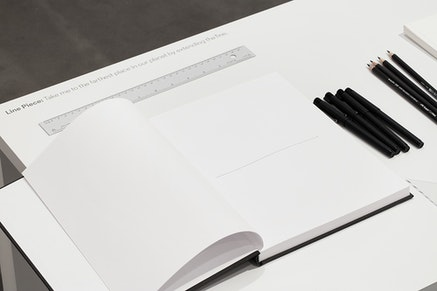 Yoko Ono, <em>Line Piece</em>, (detail), 2015. Materials variable. Dimensions variable. Courtesy Andrea Rosen Gallery, New York. (C) Yoko Ono. Photo: Pierre Le Hors.