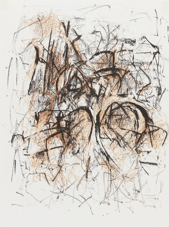 <em>Meditations in an Emergency</em>, 1967, Lithograph, 12 x 9 in. © Estate of Joan Mitchell.