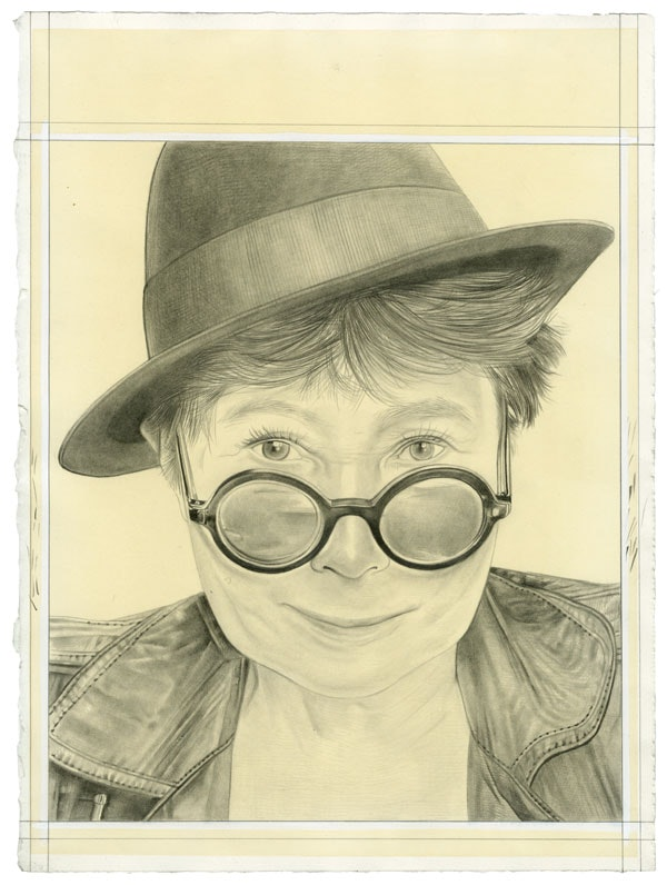 Portrait of the artist. Pencil on paper by Phong Bui. From a photo by Matthu Placek.