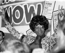 <i>Shirley Chisholm campaigning for president in 1972. Courtesy of Arlie Scott.</i>