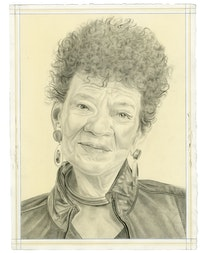 Portrait of the artist. Pencil on paper by Phong Bui. From a photo by Taylor Dafoe.