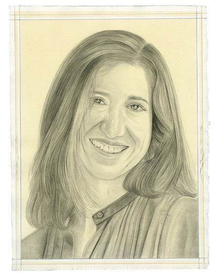 Portrait of Suzanne Hudson. Pencil on paper by Phong Bui.