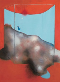 Francis Bacon, <em>Sand Dune</em>, 1983. Oil and pastel on canvas, 78 × 58 inches. © The Estate of Francis Bacon. All rights reserved. / DACS, London / ARS, NY 2015. Photo: Peter Schibli, Basel. Courtesy Gagosian Gallery.