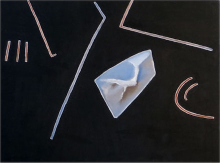 Sarah Plimpton, <em>Falling Through</em>, 2014. Oil on linen, 30 × 40 inches.